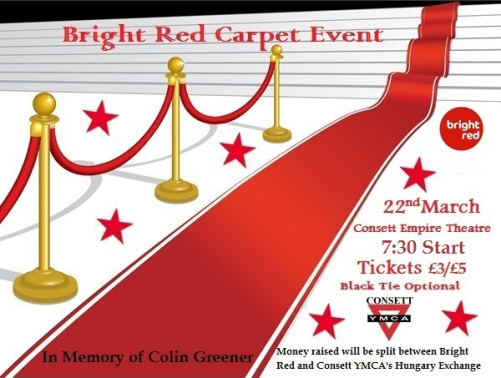 Bright Red Carpet Event